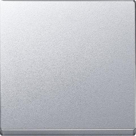 Выключатель одноклавишный промежуточный. Цвет Алюминий. Merten. MTN3117-0000+MTN433160