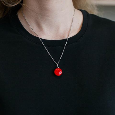 Кулон - Красный/Чёрный - маленький круг