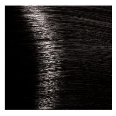 Крем краска для волос с гиалуроновой кислотой Kapous, 100 мл - HY 3.00 темно коричневый интенсивный