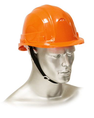 Каска защитная рабочая оранжевая