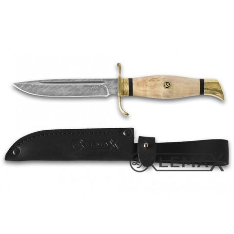 Нож Финка НКВД, дамасская сталь