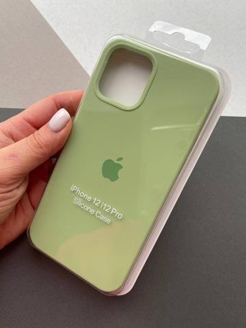 Чехол iPhone 12 (6,7) Silicone Case Full /mint gum/