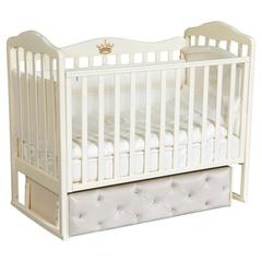 Кроватка детская Антел Алита-7 с мягким фасадом