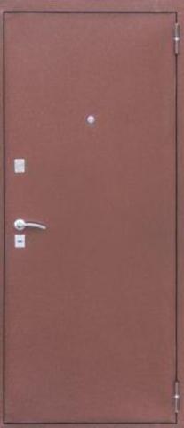 Дверь входная Н-4 стальная, античный дуб, 2 замка, фабрика Арсенал