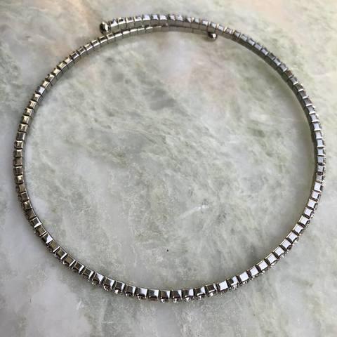 Колье Фиона, серебряный цвет