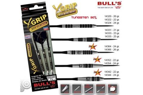 Дротики для дартса (3шт.) Bull's X-Grip, вольфрам 90, 22g (артикул 14352)