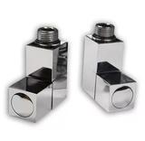 Комплект вентилей угловых Quadro 1/2*1/2 с квадратными отражателями