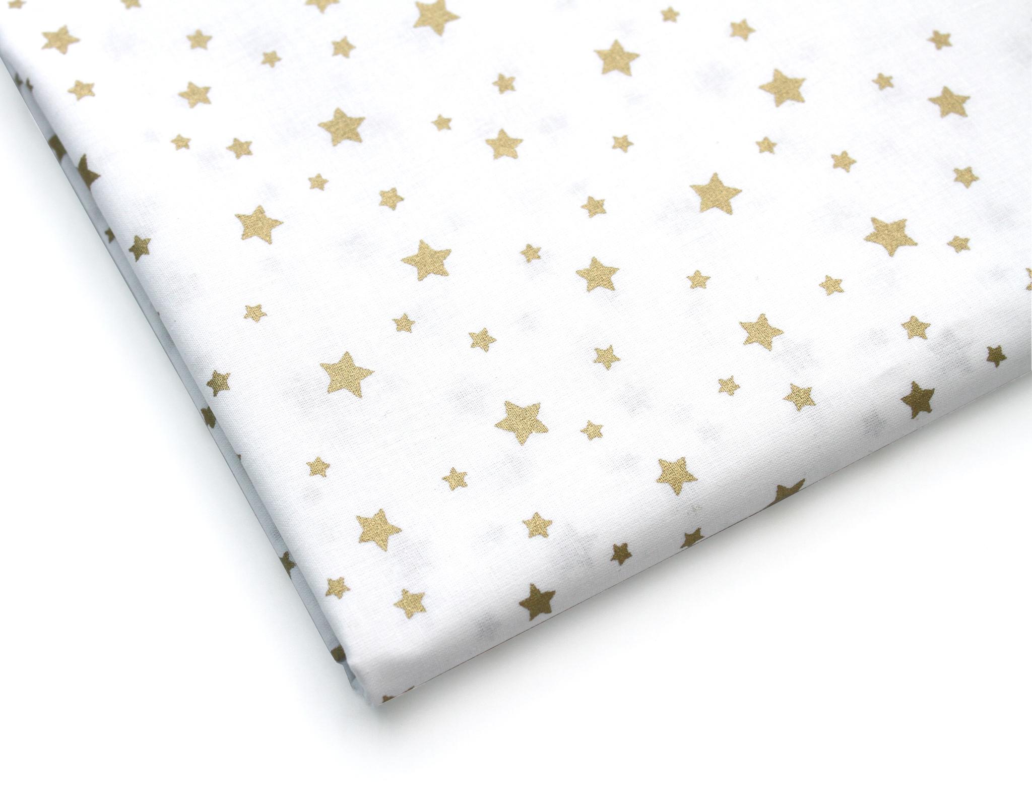 Звезды россыпь золото на белом,240 см