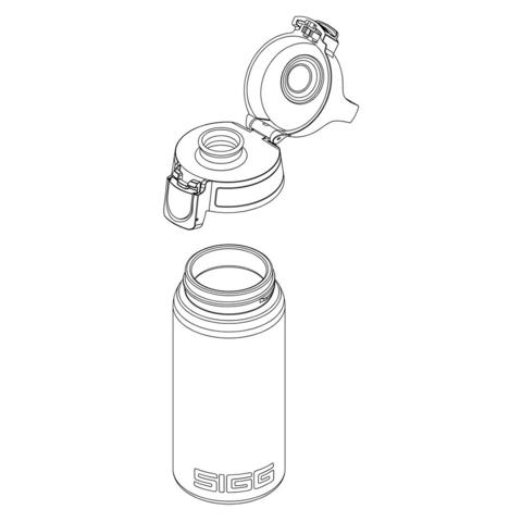 Бутылка Sigg Total Clear One (0,5 литра), серо-розовая