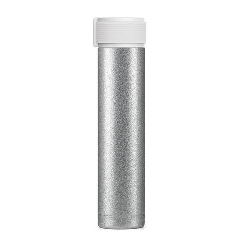 Мини-термос Asobu Skinny Glitter (0,23 литра), серебристый