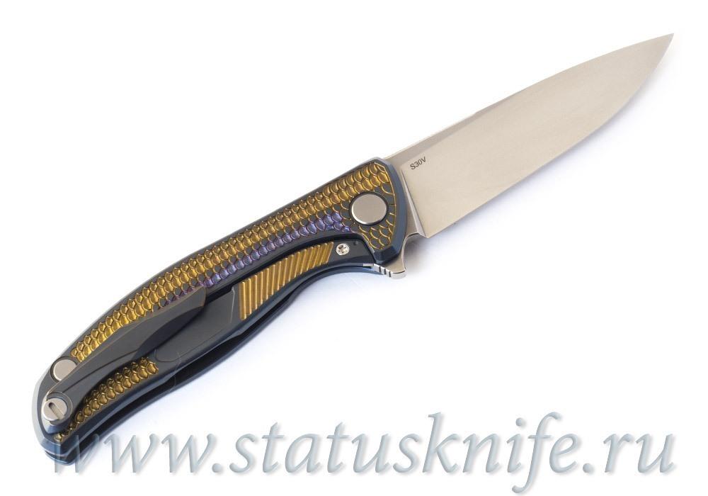 Нож Широгоров Флиппер 95 Горыныч S30V подшипник анодирование - фотография