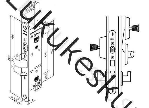 Lukukorpus Abloy LC305 35mm