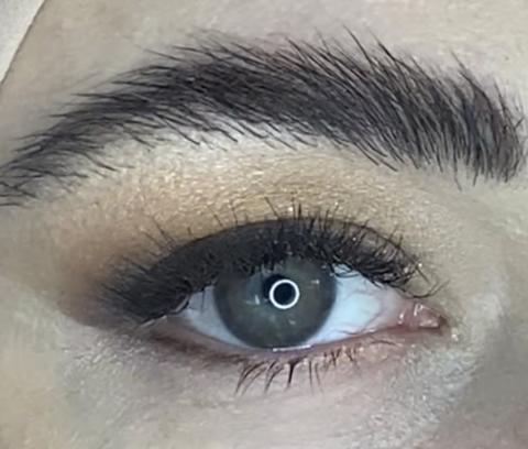 Карие линзы на Серо Голубых глазах