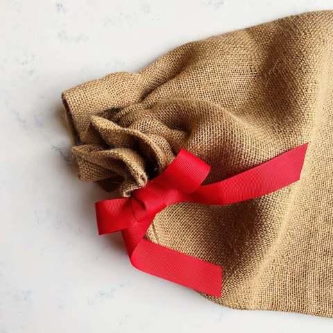 Подарочный мешок из джута