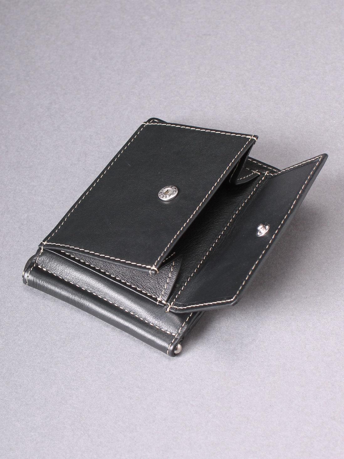 705 R - Зажим для купюр с монетником на кнопке и RFID защитой