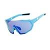 Очки солнцезащитные XQ547, (синий /  синие revo) +2 доп. линзы