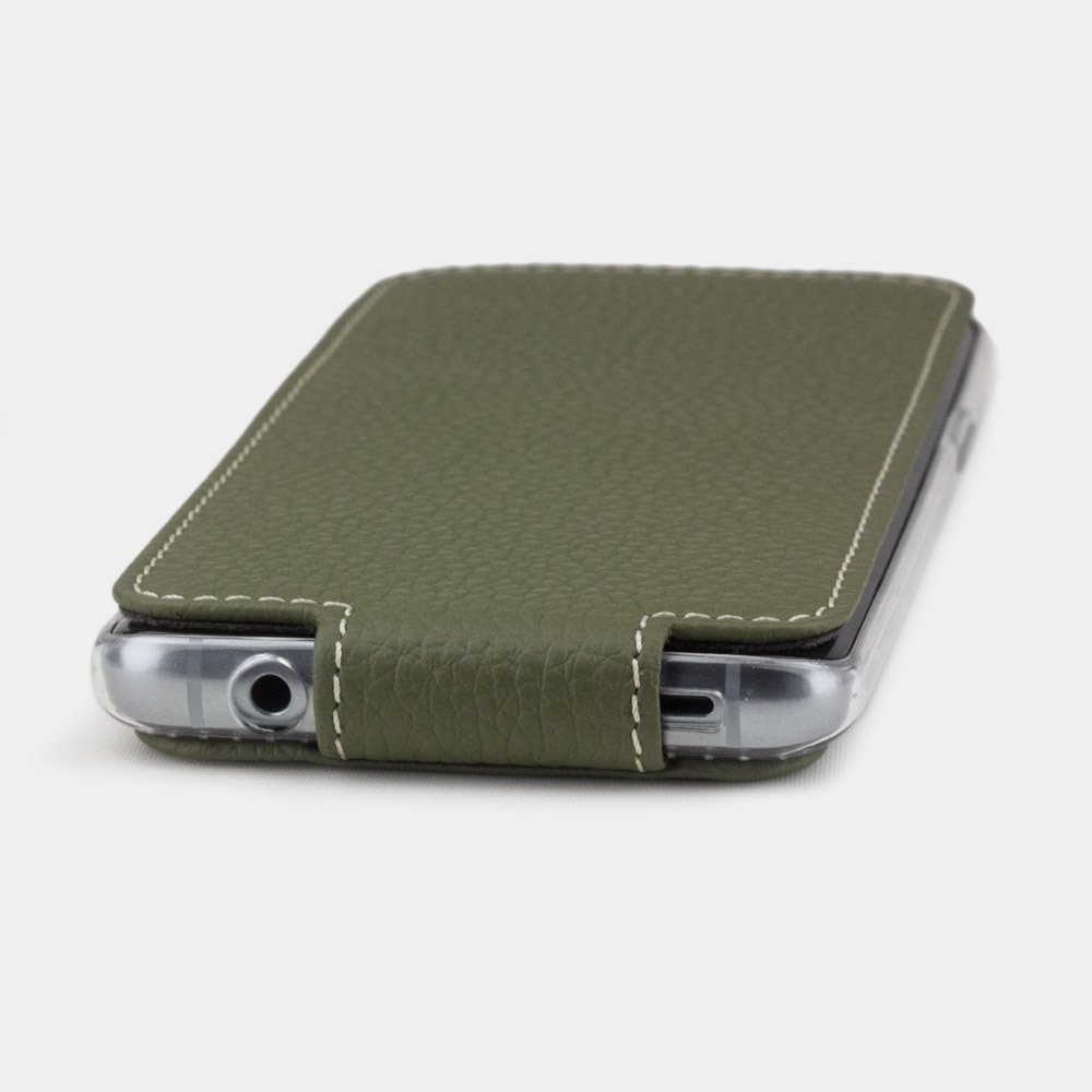 Чехол для Samsung Galaxy S9 Plus из натуральной кожи теленка, зеленого цвета