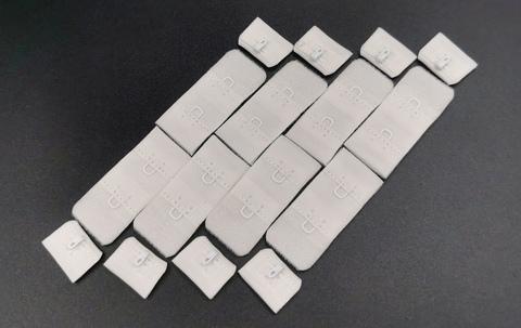 Застежка, 1х2, ОПТ, 1,9см, молоко, (Арт: Z1-004), 50 шт