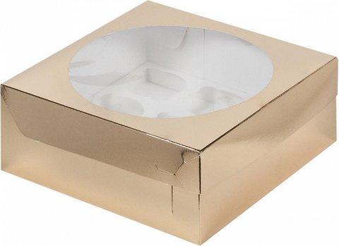 Коробка на 9 капкейков (золото)