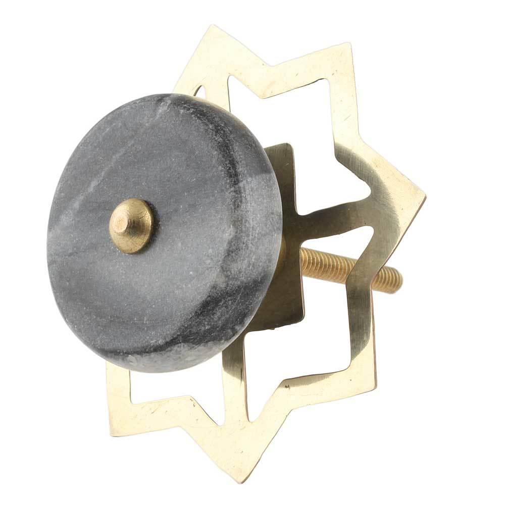 Ручка мебельная из серого мрамора, арт. 00001249