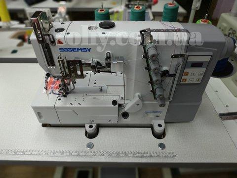 Плоскошовная промышленная машина со встроенным сервомотором и блоком управления Gemsy GEM 5501E-02DN (5,6 мм) | Soliy.com.ua