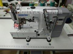 Фото: Плоскошовная промышленная машина со встроенным сервомотором и блоком управления Gemsy GEM 5501E-02DN (5,6 мм)