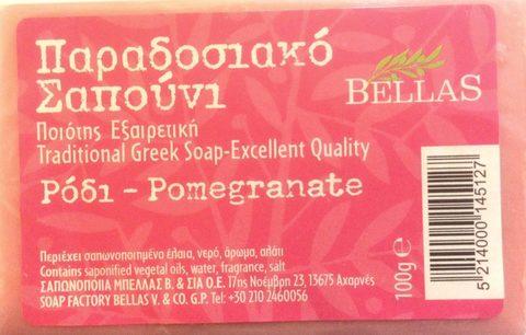 Греческое мыло с гранатом Bellas 100 гр