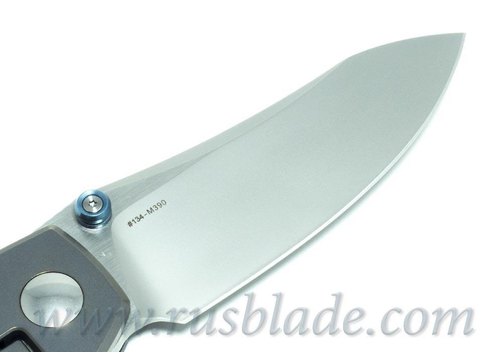 CKF MKAD Black Farko knife (M390, Ti, bearings) - фотография
