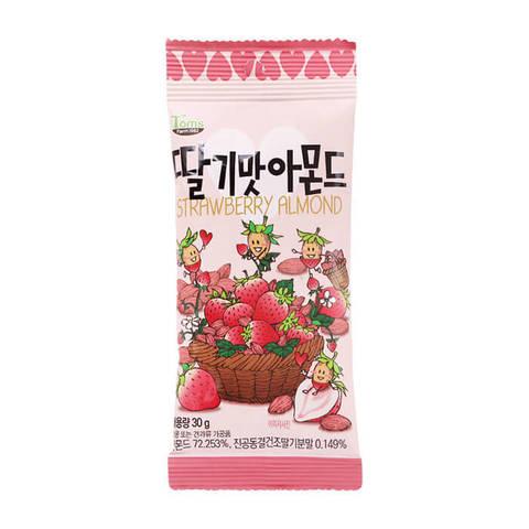 Миндаль обжаренный со вкусом клубники Strawberry Almond 30 гр