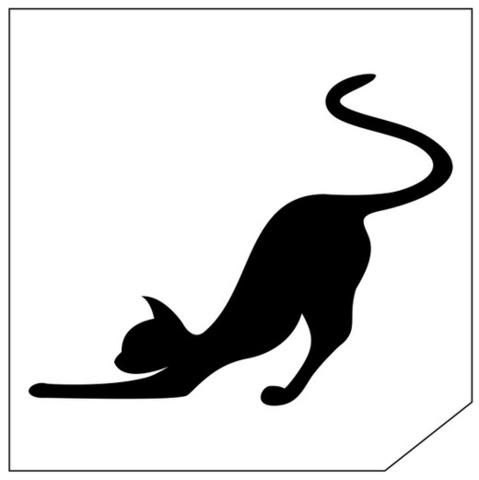 Трафарет для блеск-тату 6*6 кошка 140К