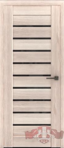 Дверь Л3ПГ1 стекло черное (капучино, остекленная экошпон), фабрика Владимирская фабрика дверей