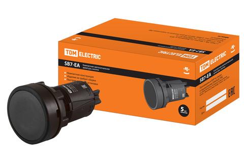 Кнопка переключатель SB7-EA25 d22мм 1з+1р черная TDM