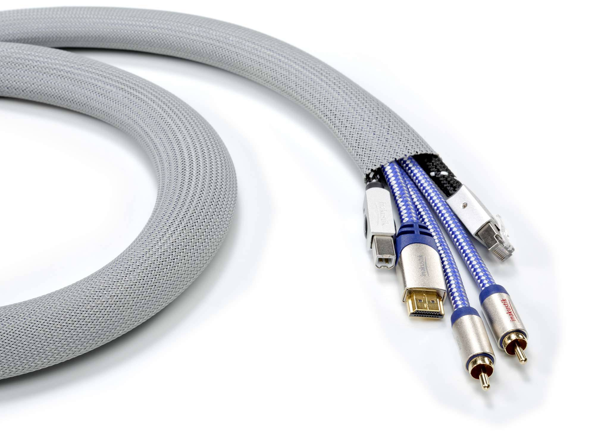 Inakustik Premium Cable Conduit 25-38mm, 38 m, 009210032