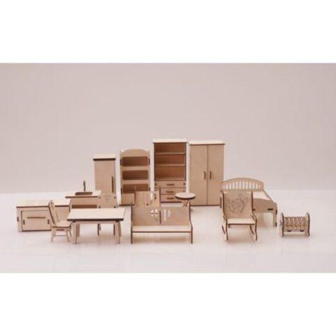 Набор мебели для кукольного домика (14 наименований) Graver Master Kids