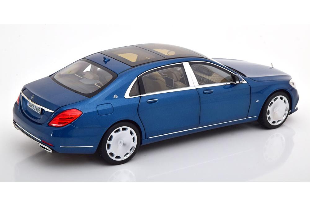 Коллекционная модель MERCEDES-BENZ X222 MAYBACH W222 S650 2020 BLUE METALLIC