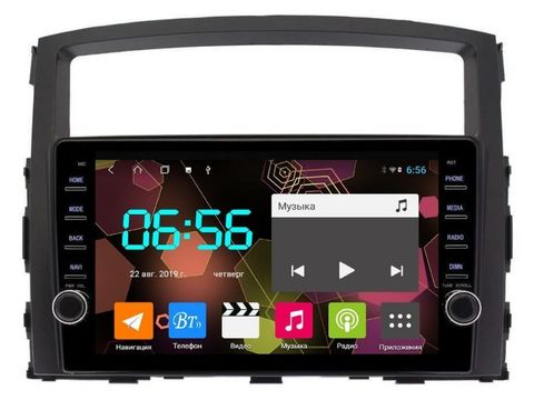 Магнитола для Mitsubishi Pajero 2007-2019 Android 10 4/64GB IPS DSP 4G модель CB1046T9