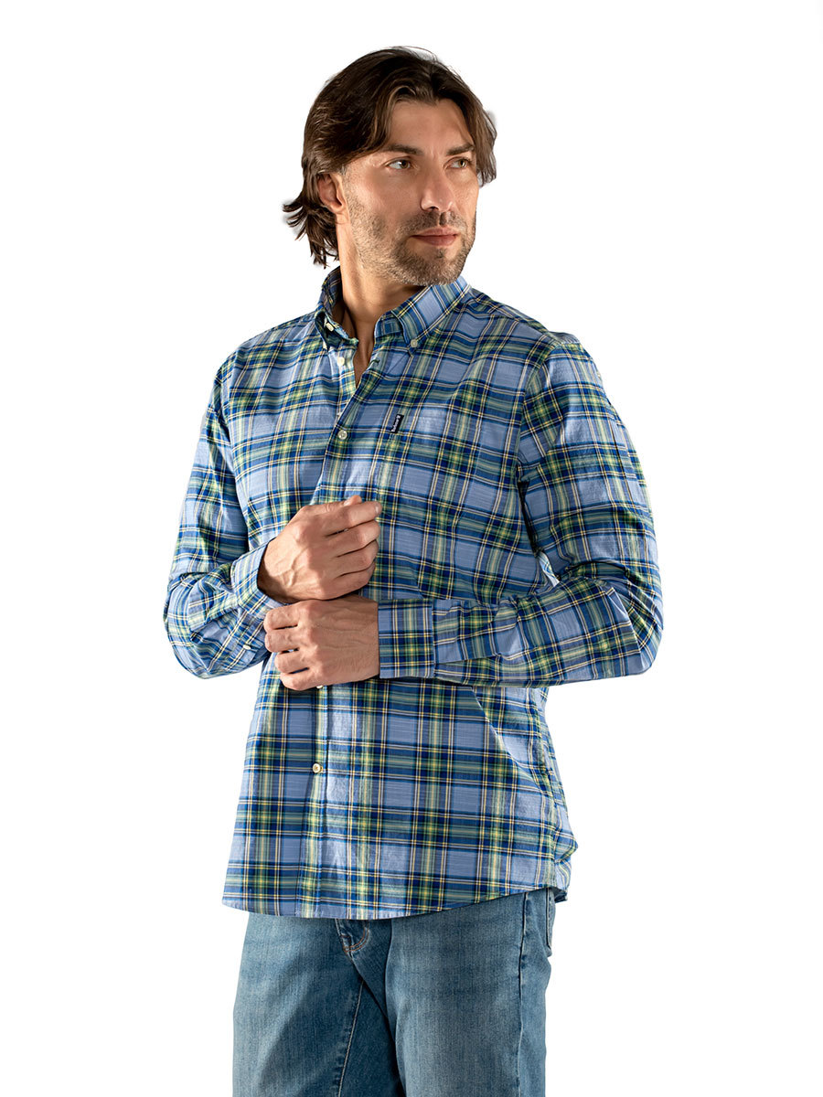 Barbour рубашка Highland Check 26 Tailored MSH4657/BL36