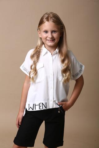 Рубашка для девочки короткий рукав BlueLand Турция, 2057 (128-164)