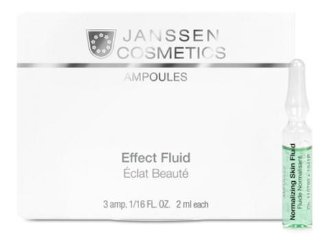 Нормализующий концентрат для ухода за жирной кожей Janssen Normalizing Fluid,7 амп.х2 мл.