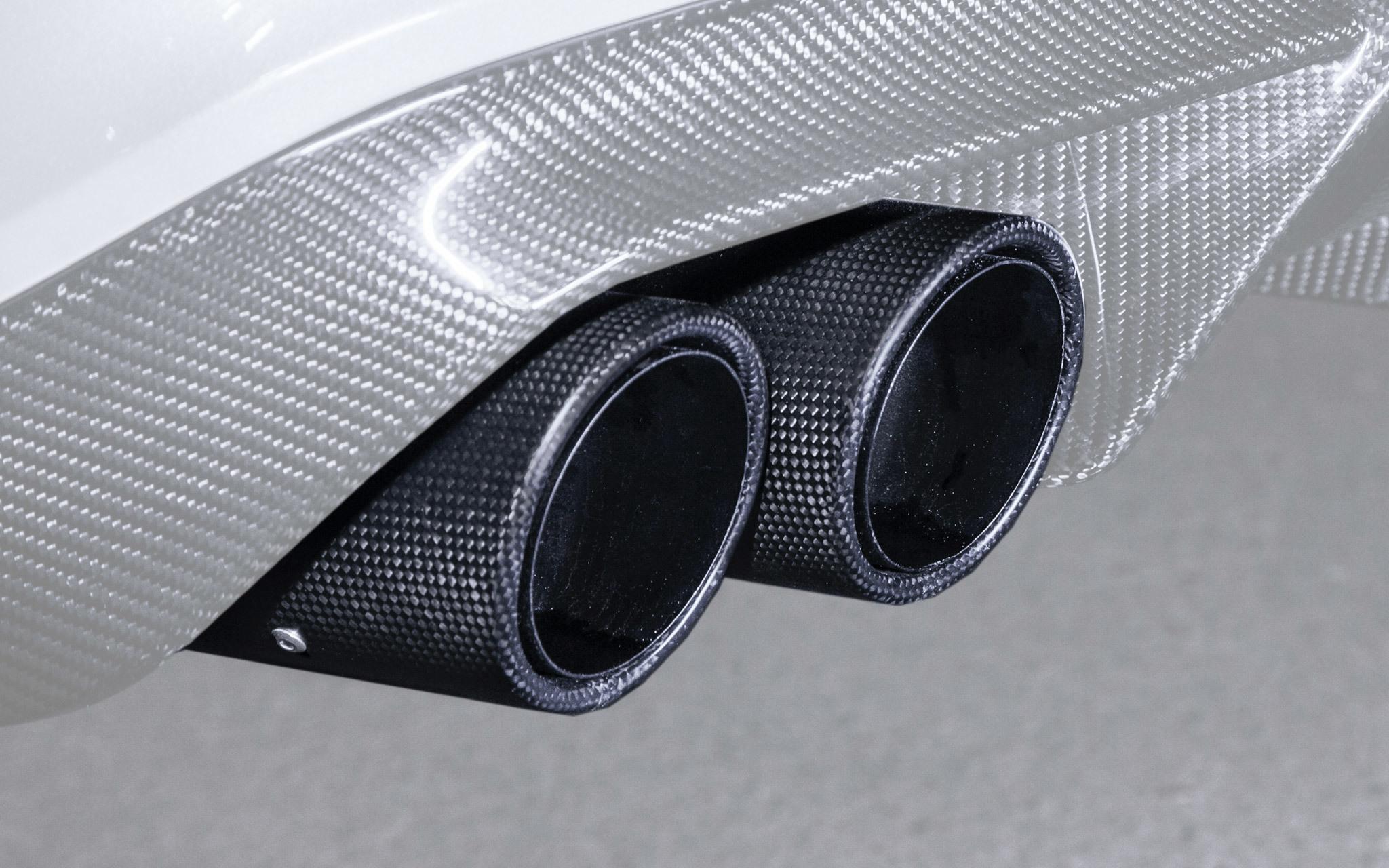 Карбоновые насадки на глушители 63 AMG Brabus Style для Mercedes E-class W213