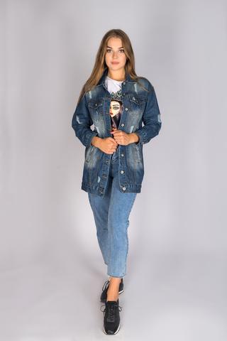 Удлиненная джинсовая куртка женская недорого