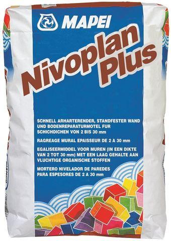 Mapei Nivoplan Plus/Мапей Нивоплан Плюс состав на цементной основе для выравнивания стен, потолков и полов внутри и снаружи помещений