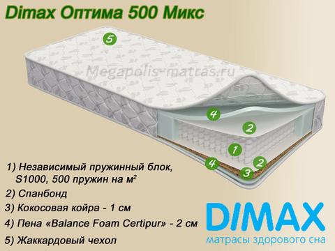 Матрас Dimax Оптима 500 Микс с описанием от Мегаполис-матрас
