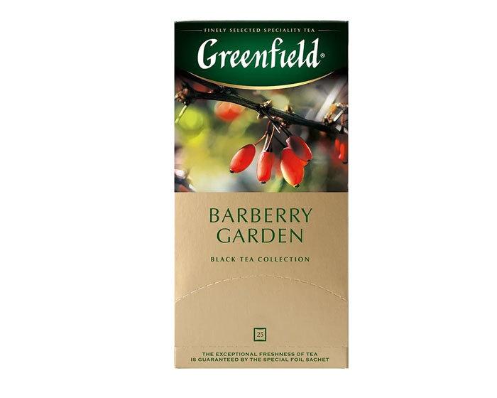 купить Чай черный в пакетиках из фольги Greenfield Barberry Garden, 25 пак/уп