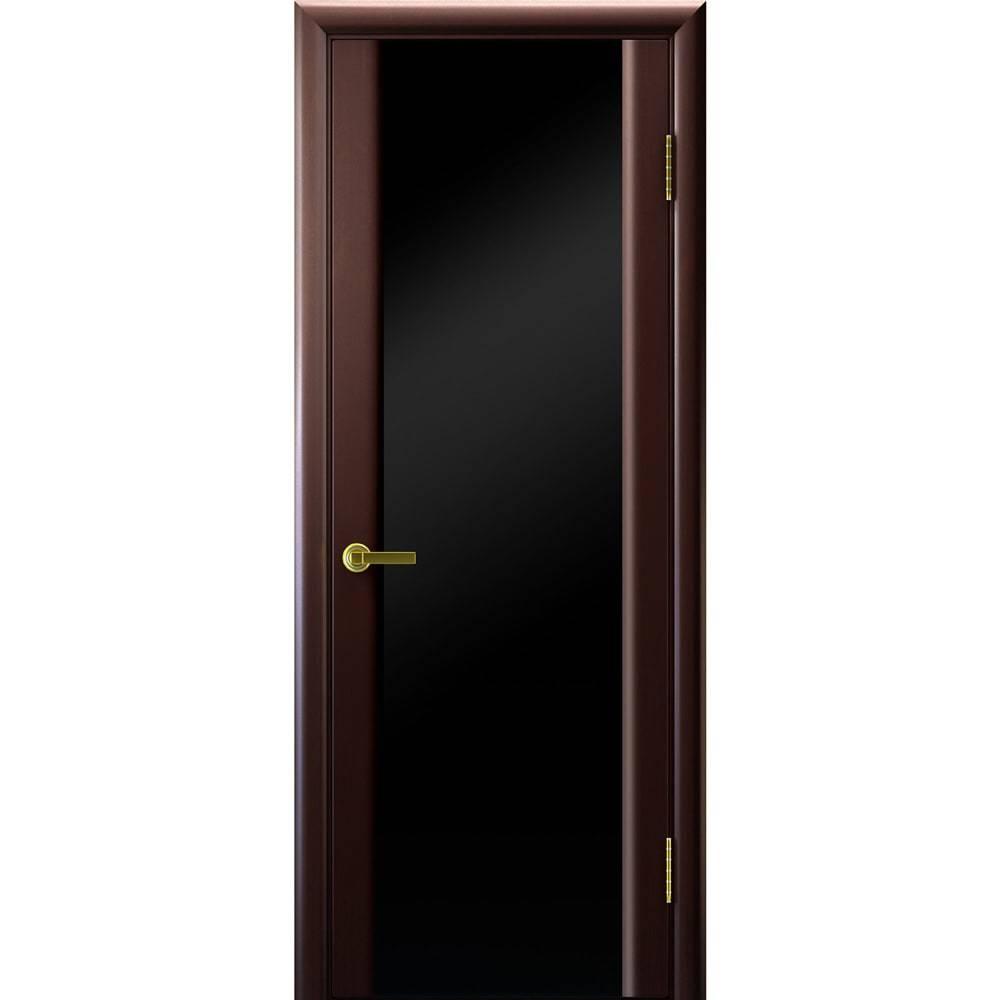 Ульяновские шпонированные двери Межкомнатная дверь шпон Legend Синай 3 венге с чёрным стеклом tehno-3-po-black-venge-dvertsov-min.jpg