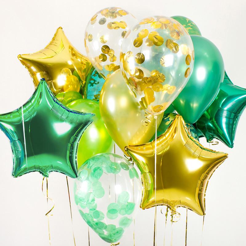 Купить воздушные шары фольгированные звезды камуфляж в Перми