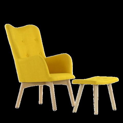 Кресло K-101 каркас дерево с оттоманкой