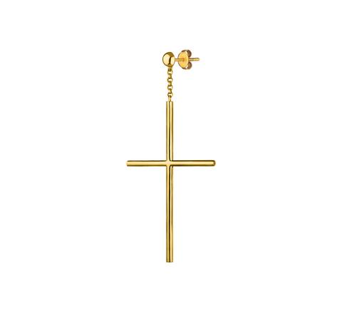Моносерьга-крест
