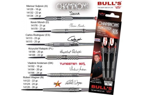 Дротики для дартса (3шт.) Bull's Champions.B.Strauch Steel., вольфрам 90,22g (артикул 14172)