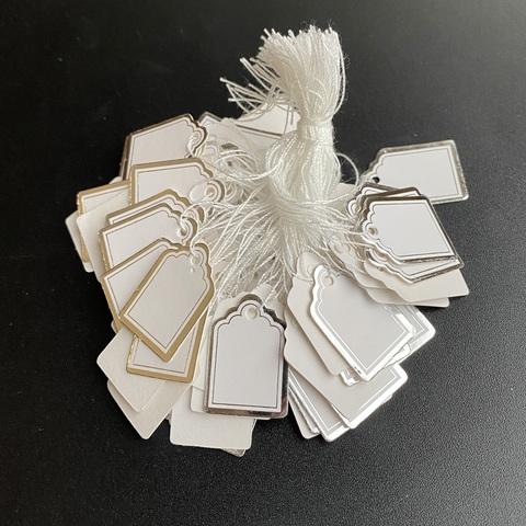 Бирки для изделий с серебряной окантовкой 100 штук